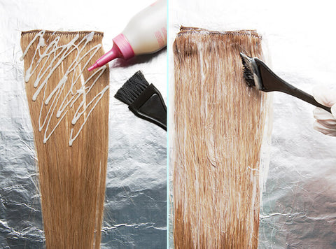 how to dye my hair extensions at home