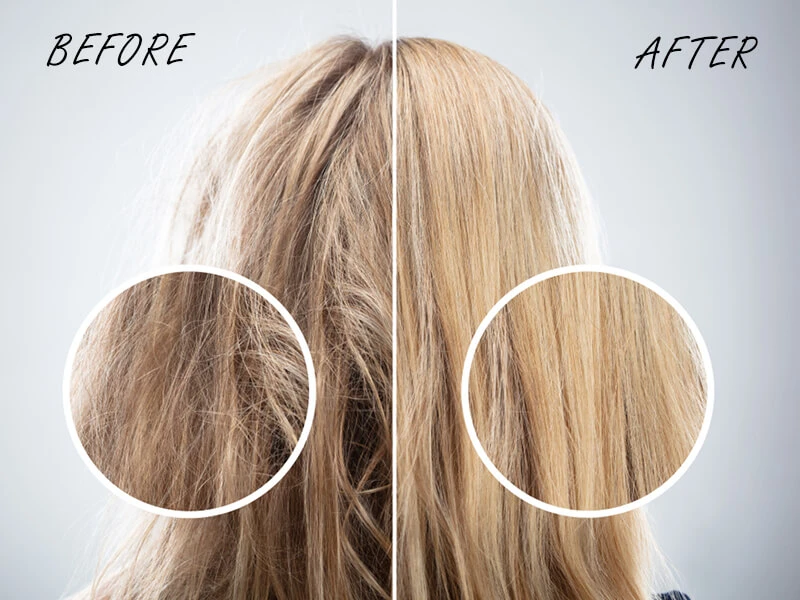 How to fix dry human hair extension