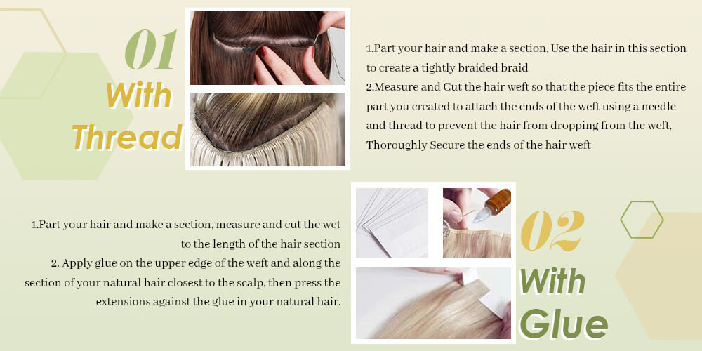 how to wear hand-tied hair weft