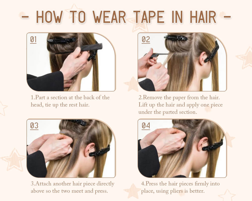 How to wear injection tape in hair