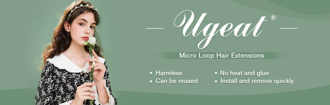 Ugeat micro loop hair extensions