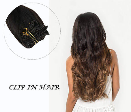 Ugeat Virgin Human Hair Clip in Hair Extensions
