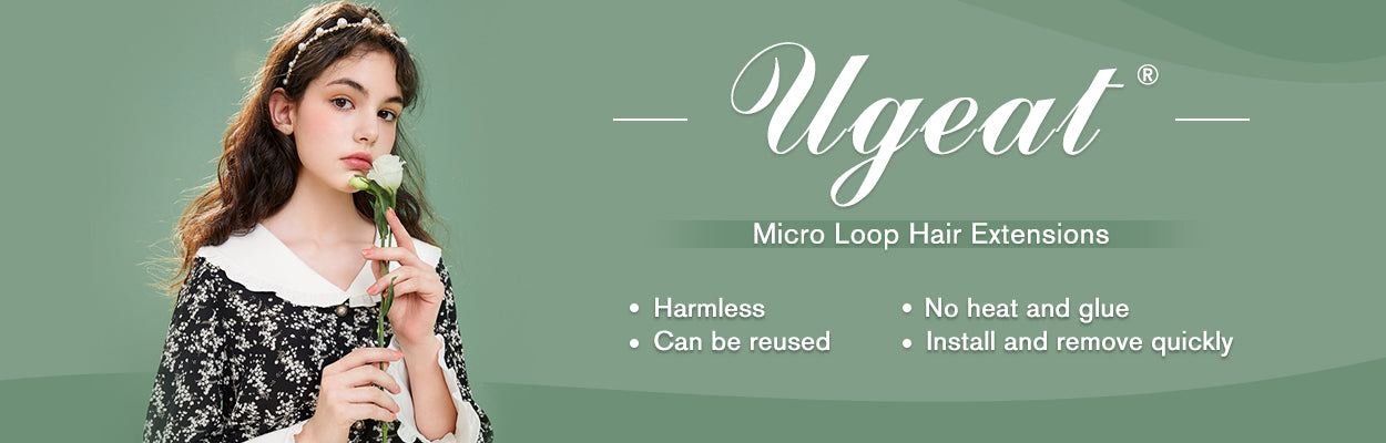 Ugeat micro loop hair extension