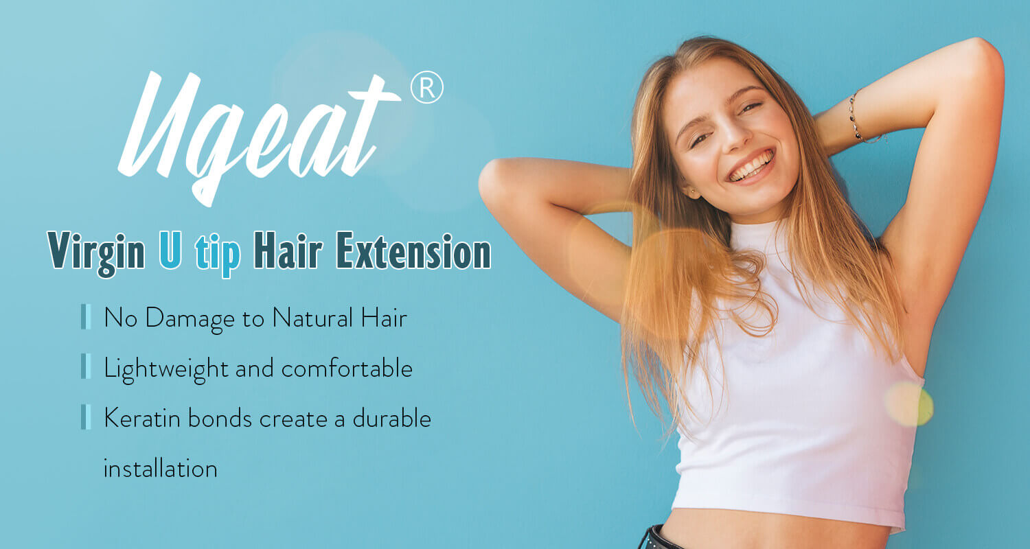 Virgin U tip hair extension