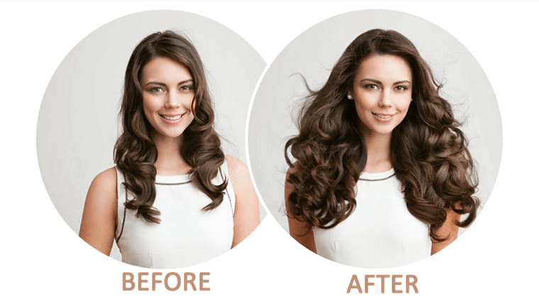 Before and after ugeat hair extension