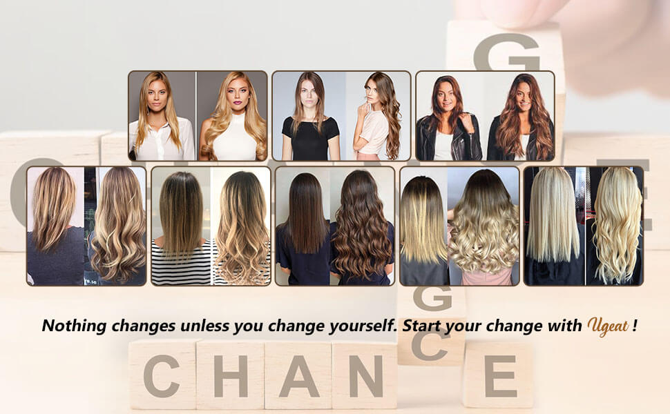 change with ugeat hair extensions