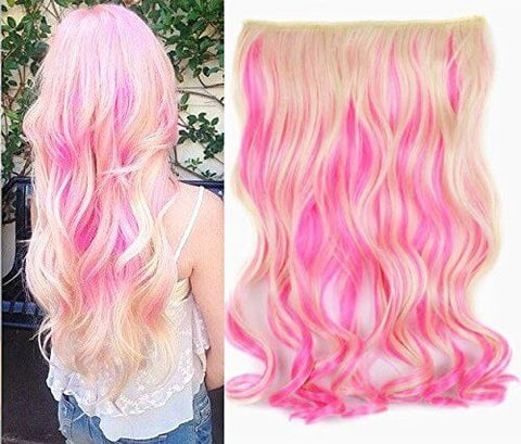 hair extensions with pink color