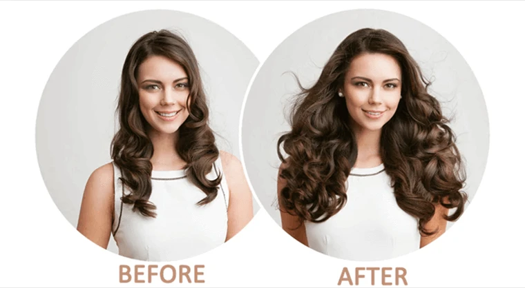 Hair extension can easily change hair color and length