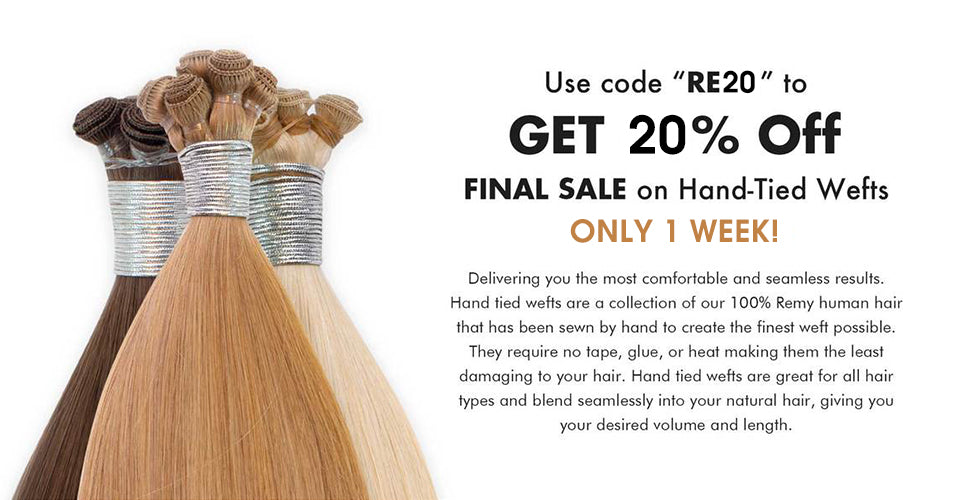 hand-tied hair weft sale