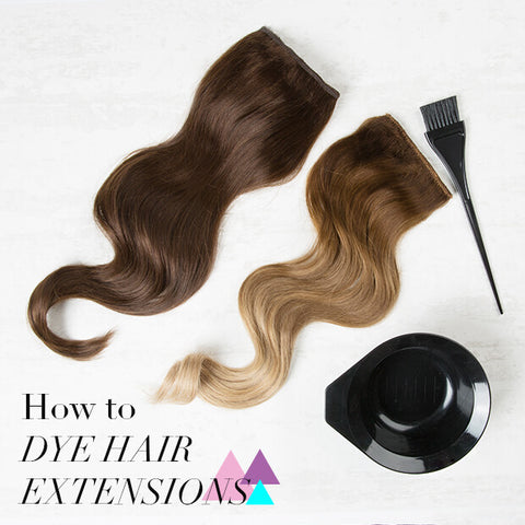 dye my hair extensions at home