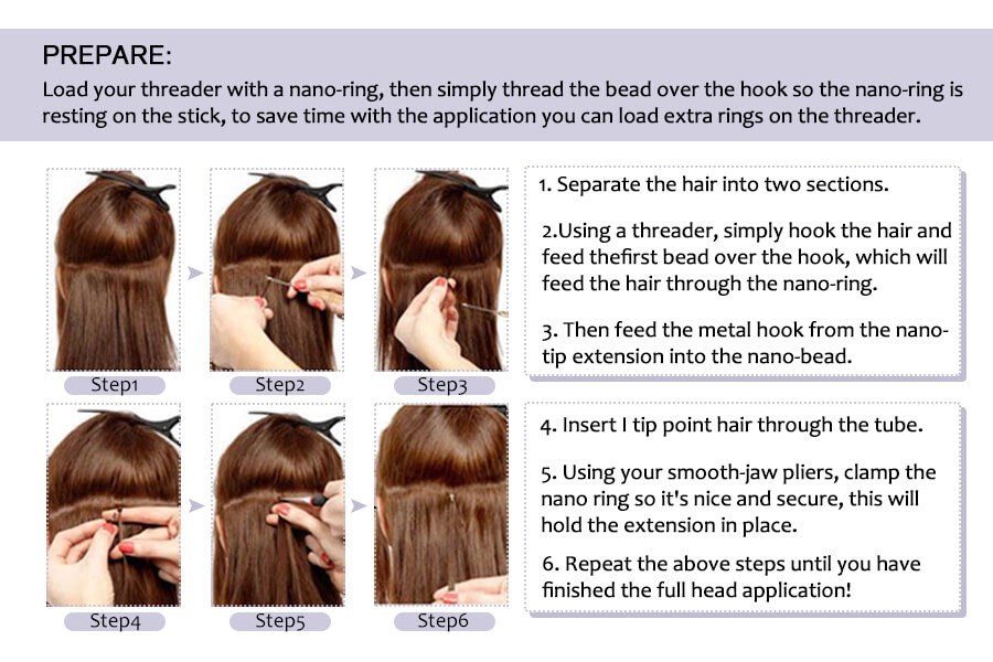 application nano tip hair