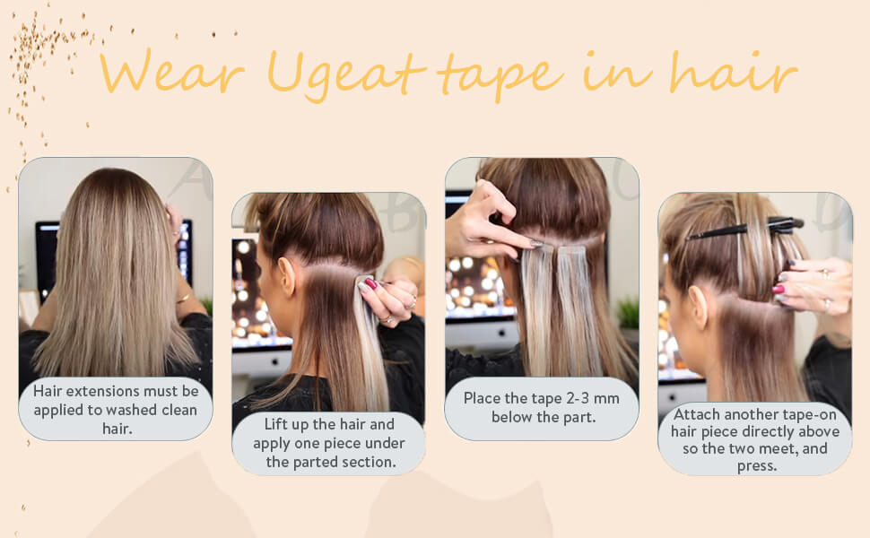 How to wear Ugeat tape in hair extension