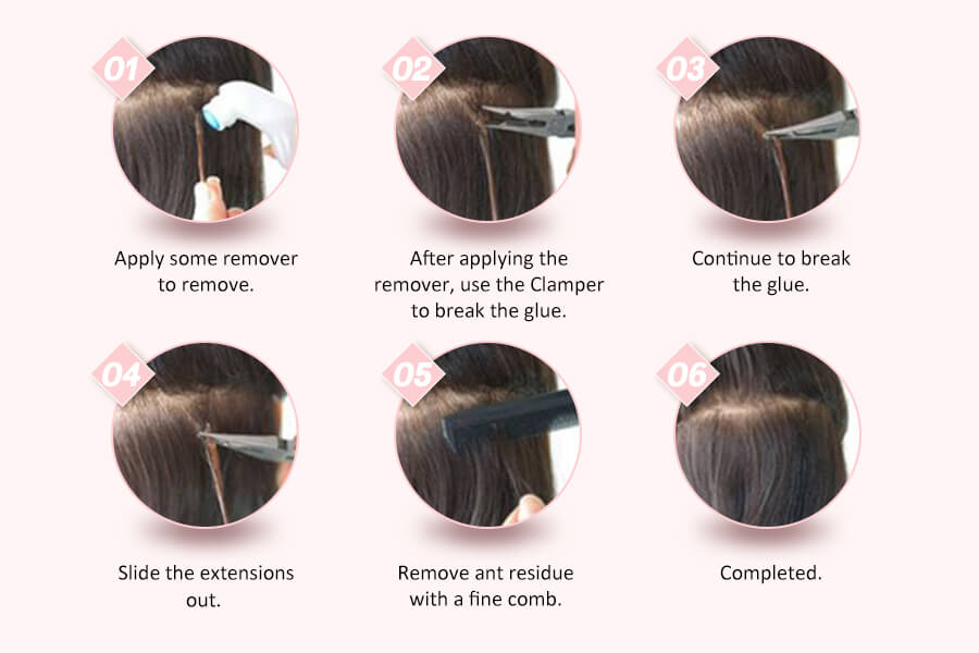 how to remove tape in hair
