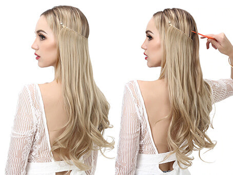 How to wear flip hair extension