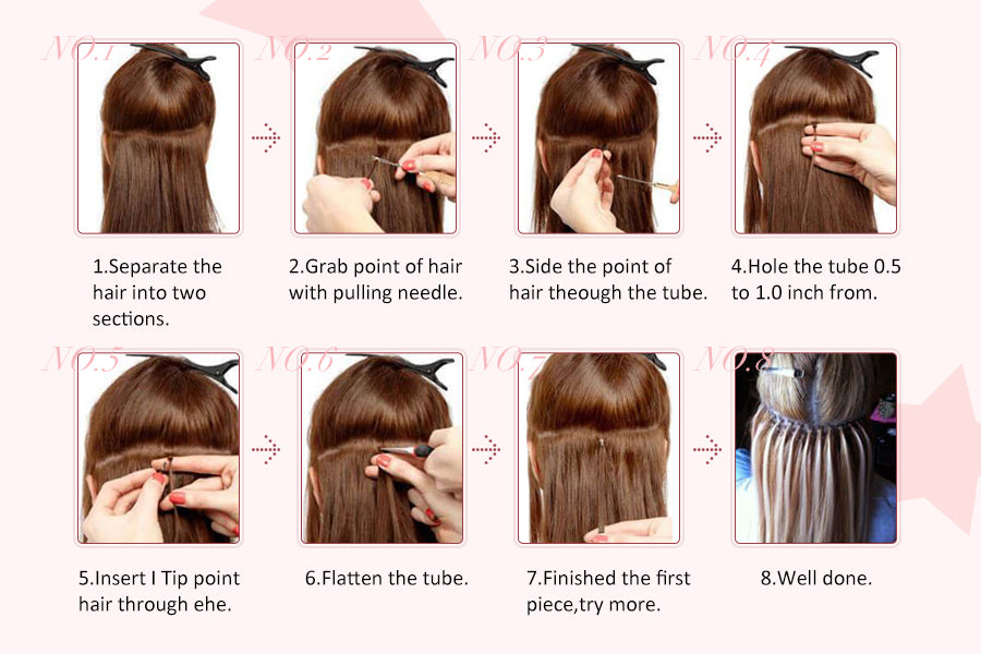 How to apply I tip hair extension