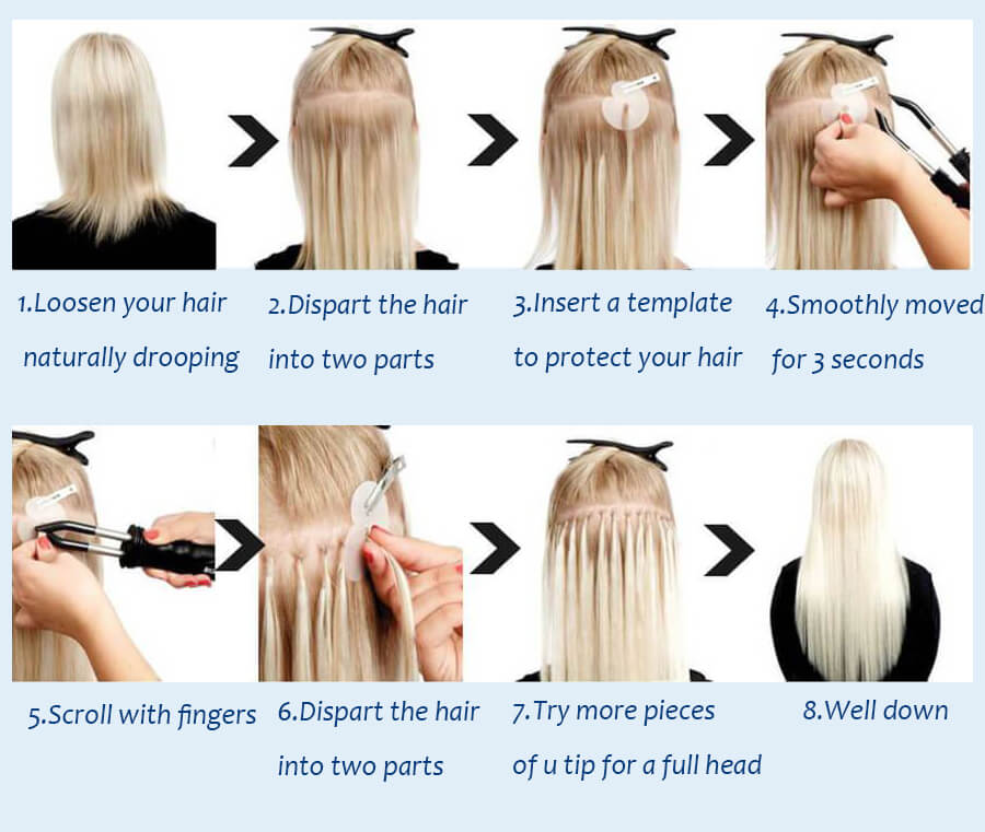 how to wear u tip hair extensions