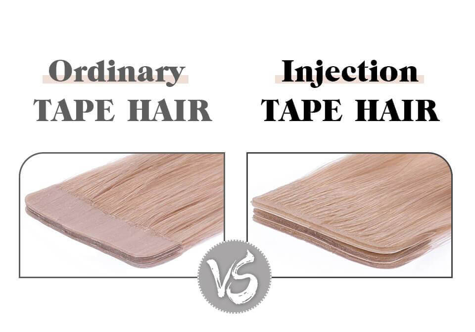 The difference between virgin hair and injection tape