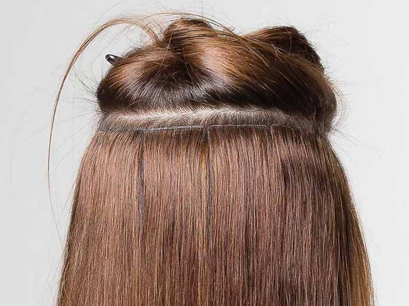 seamless invisible tape in hair extensions