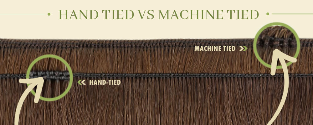 the difference between hand-tied hair weft and machine weft