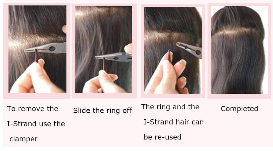 how to remove i tip hair extension