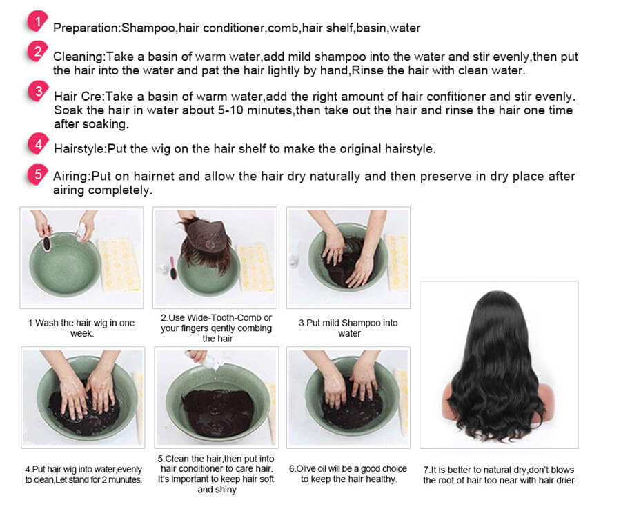 Best way to care human hair wigs