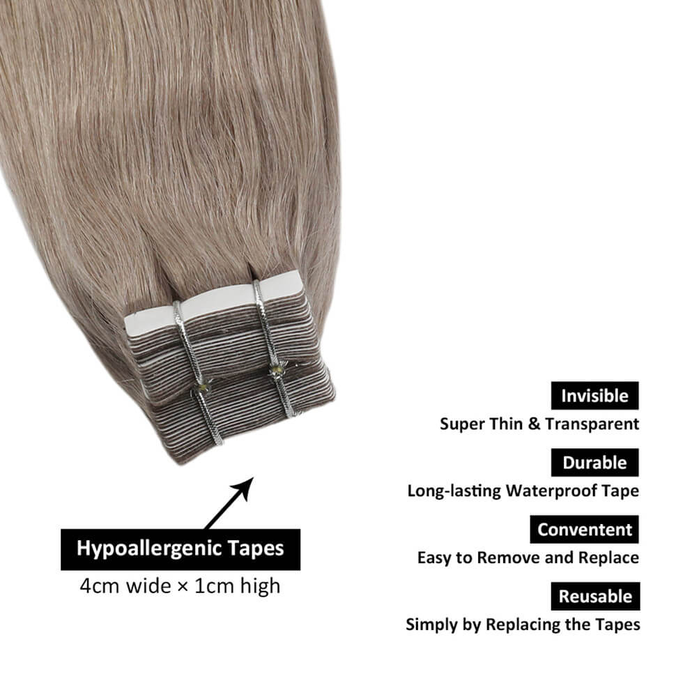 tape in human hair extensions real hair