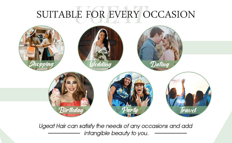 suitable occassions to wear micro loop hair extensions: shopping, wedding,birthday party,etc.