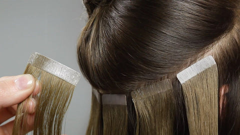 apply for tape in hair extensions
