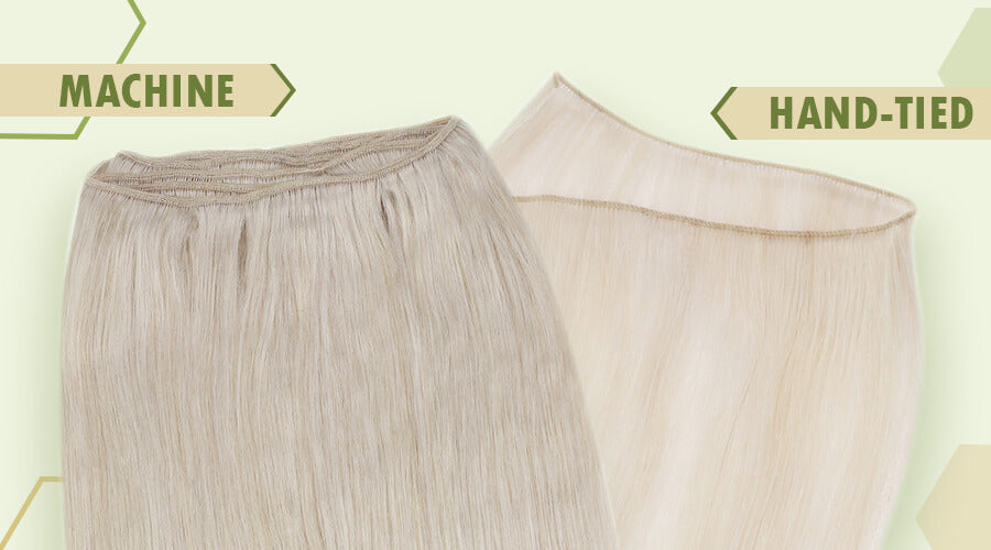 what is the difference between hand tied weft and machine weft