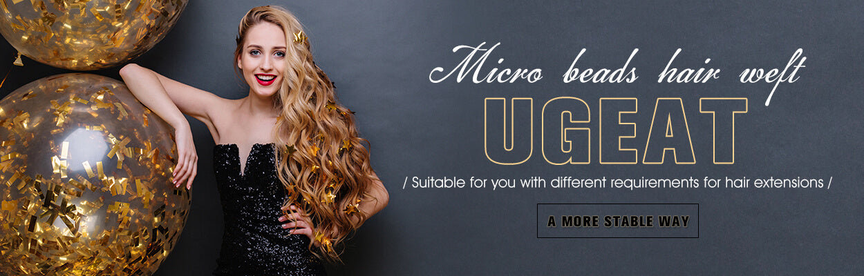 Ugeat micro beads hair weft