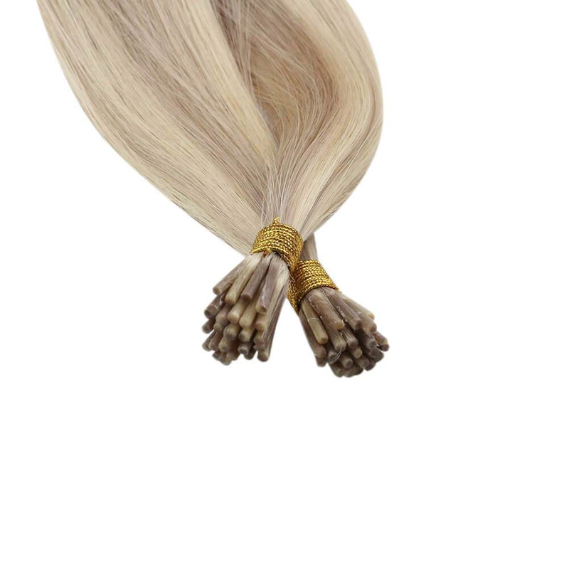 Real Human Itip Hair Extensions Ash Blonde