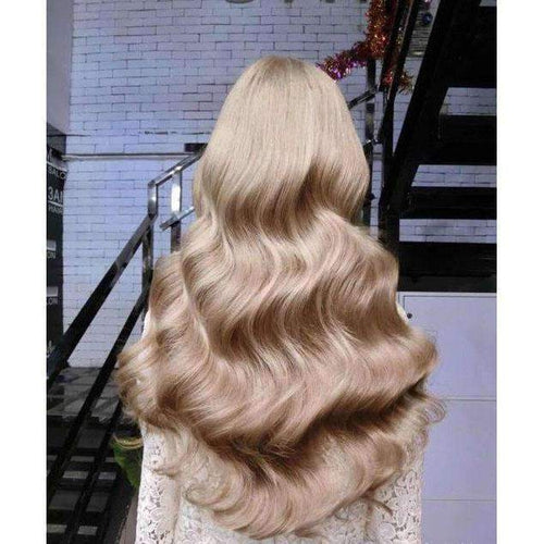 100% Human Hair Wigs Ash Blonde #18 Front Lace Wigs with Baby Hair-UgeatHair