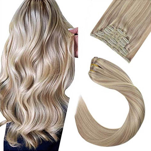 Real Hair Extensions Clip in Human Hair Clip in Hair Extensions Human Hair