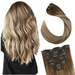 Full Head Clip in Long Hair Extensions