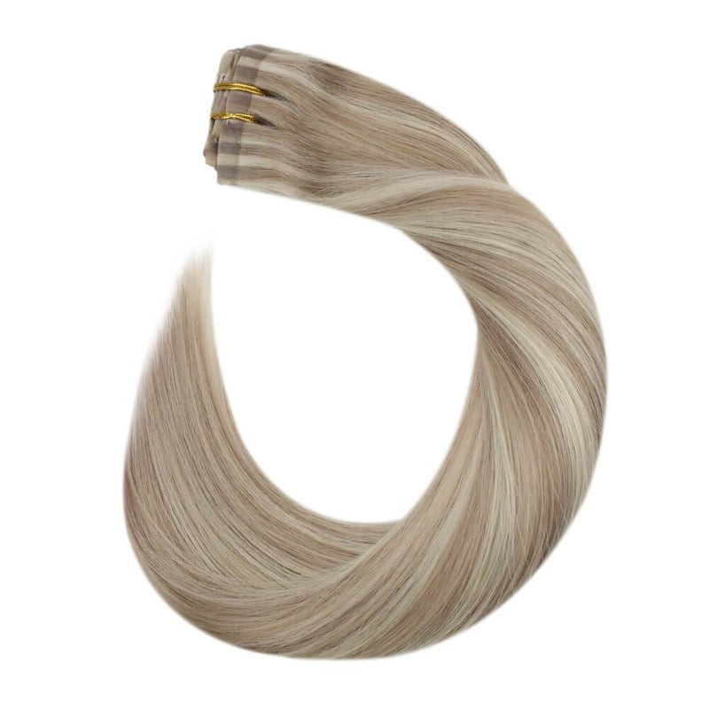 PU Clip in Hair Full Head Extension for Women