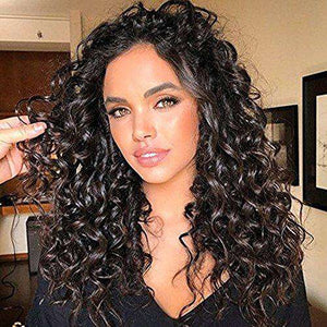 Curly Clip ins Hair Extensions Human Hair Chocolate Brown Color Sale #4-UgeatHair