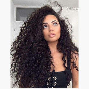 Curly Clip ins Hair Extensions Human Hair #2 Darkest Brown Color Sale-UgeatHair