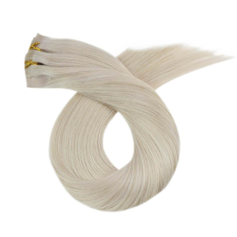 #60A Double Weft PU Clip in Extensions