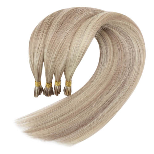 fusion i tip hair extensions human hair blonde