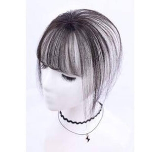 Pieces Front Clip in Hair Fringe Hair Extensions #1b Natural Black