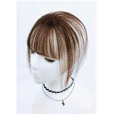 3D bangs Air Fringe Remy Human Hair Pieces Front Clip in Hair Fringe #1b