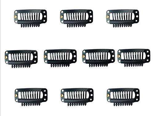 Ugeat 20 Pcs U Shape Metallic Snap Clips ins for Hair Extension Hairpiece-UgeatHair