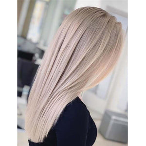 ash blonde human hair lace front wigs
