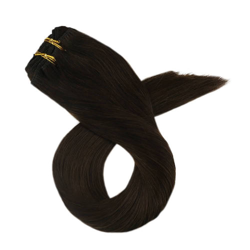 virgin hair sale clip in black human hair extensions