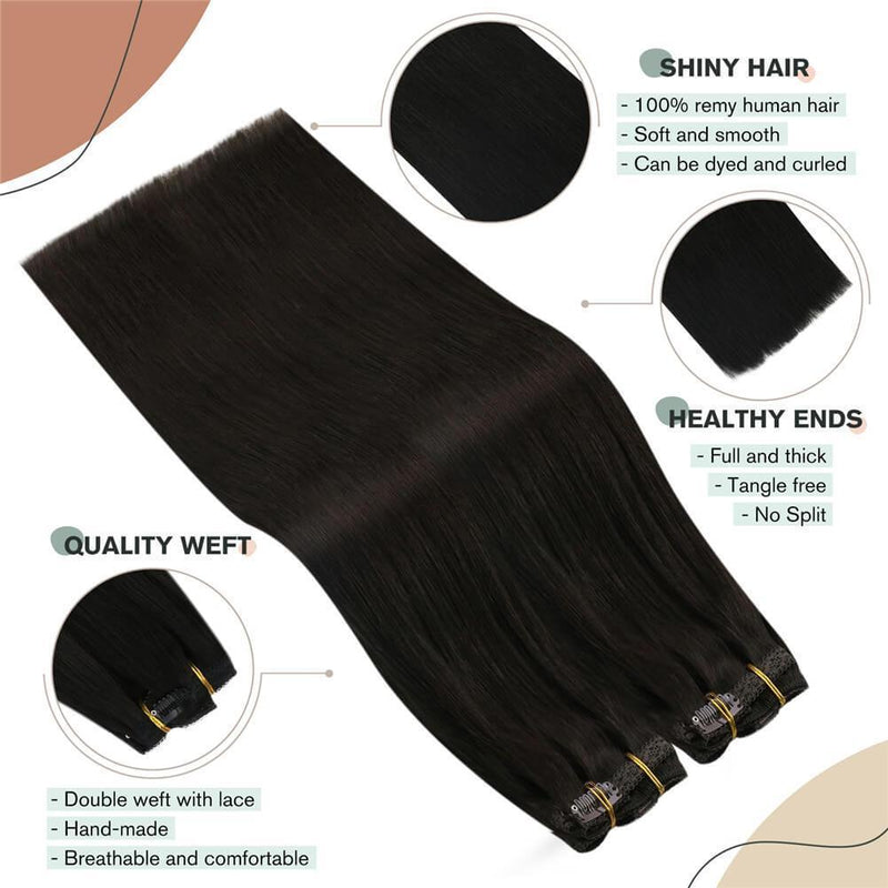 Clip in Hair Extensions 120g Double Weft Clip on Extensions