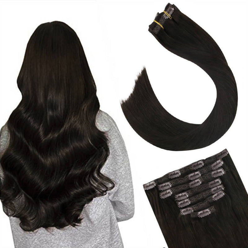 Human Hair Extensions Clip in Remy Hair Full Head
