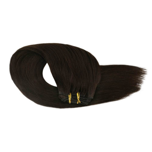 virgin hair sale clip in double weft hair extensions