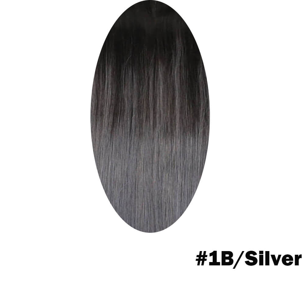 Black and silver hair extensions
