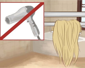 best to dry the hair extensions naturally.