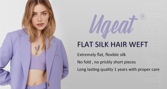 Extremely flat no fold hair weft